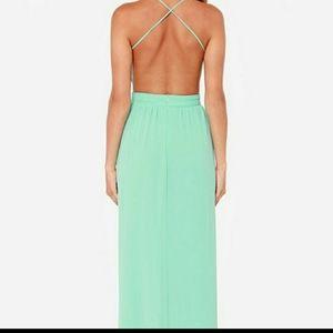 Lulu's Rooftop Garden Backless Maxi Dress